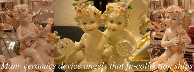 イタリア製陶器天使